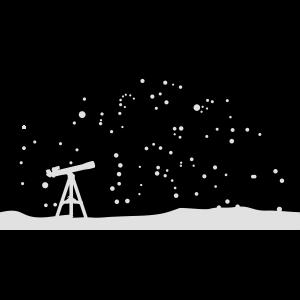 Teleskop und Sternenhimmel, Astronomie