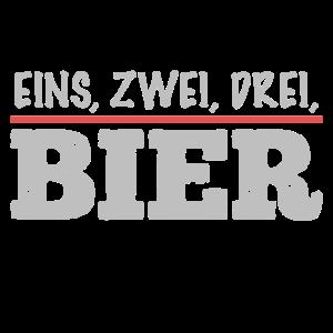 eins zwei drei Bier