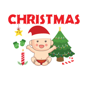 Baby's First Christmas On The Inside Funny