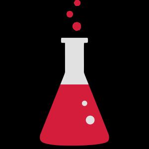 Chemie, Reagenzglas 3farbig