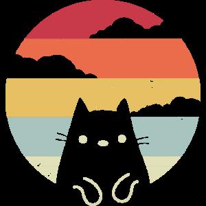 Katze Retro Vintage Design