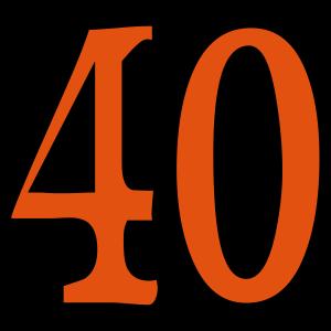 40 - Vierzig