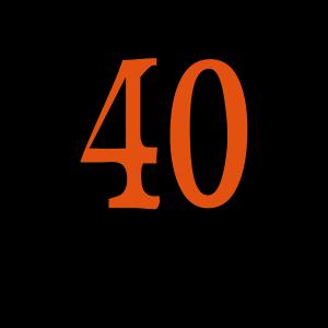 """Geburtstag T-Shirts mit """"40 noch Fragen"""""""
