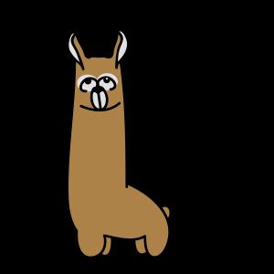 Lustiges Lama mit guten Karma