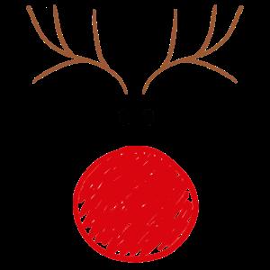 Rentier lustig Weihnachten für Damen & Kinder
