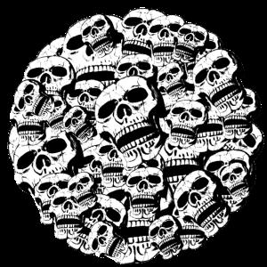 Totenköpfe im Kreis / Skulls