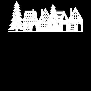 Weihnachtsdorf Weiß