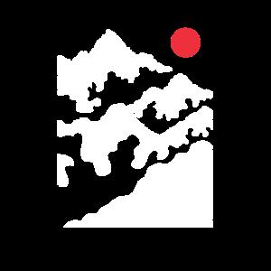 Berge Berglandschaft Sonne Minimalistisch