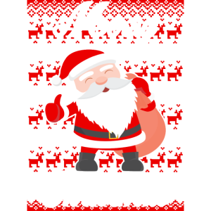 Weihnachtsmann Rentier Muster Lustig Weihnachten