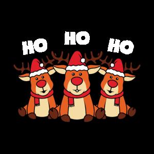 süße Rentiere Hohoho Xmas Weihnachtsgeschenk