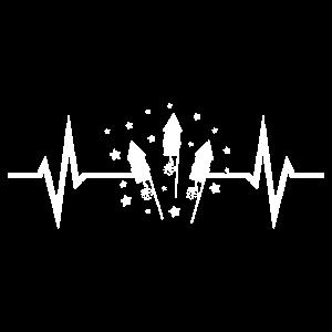Feuerwerk Herzschlag EKG