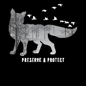 Preserve & Protect Umweltschutz Klimaschutz Fuchs