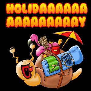 Urlaubsschnecke Holiday