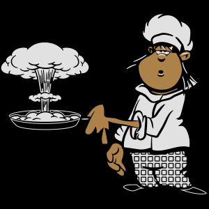 kochen koch witzig atompilz