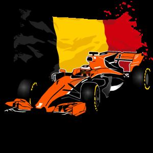 Racecar - Rennauto - Belgium Flag