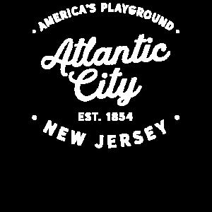 Klassisches Atlantic City New Jersey Retro Vintag