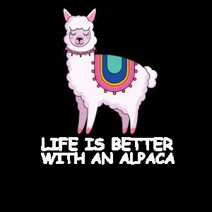 Alpaka Lama Geschenkidee Fluffy Shaggy