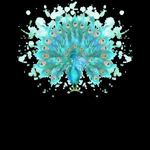 Aquarell-Pfau