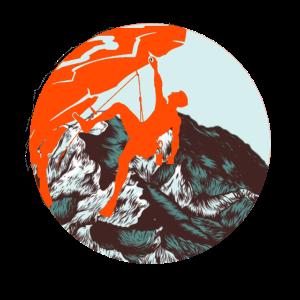 Klettern Kletterer Berg Bouldern Geschenk