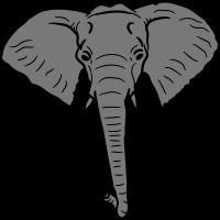 elefant nacht mond klippe berg sonne groß