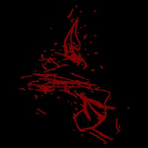 Farbtropfen - Linie / rot