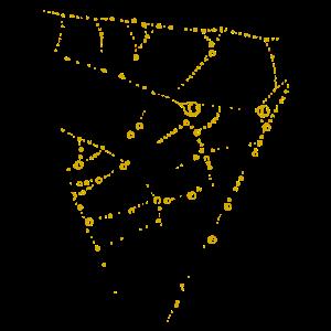 Farbtropfen - Linie / gold