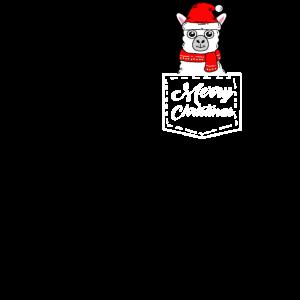Llama Frohe Weihnachten