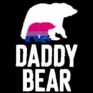 Bisexuell LGBTQIA Bi Flagge daddy bear
