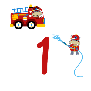 Feuerwehr erster Geburtstag 1 Jahr Kindershirt