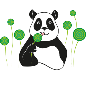 Panda lollipop
