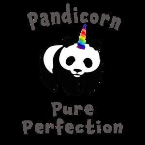 Nettes Pandicorn Geschenkdesign