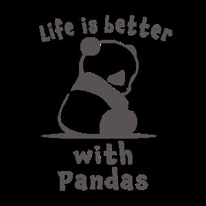 Nettes Leben ist besser mit Pandas Geschenk für Mädchen