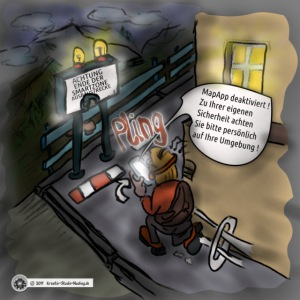 Cartoon SmartZone Ende der Ausbaustrecke