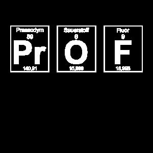 Prof Professor Geschenk Periodensystem