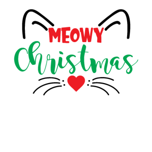 Meowy Christmas Funny Cat Lovers Holiday Gifts