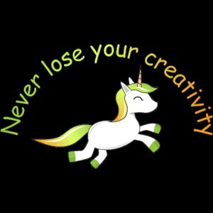 Einhorn | never lose your creativity