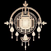 Traumfänger, Blume des Lebens, Talisman, Schamane