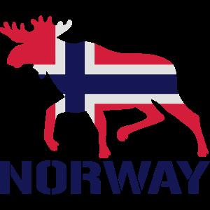 Elch Norwegen Flagge