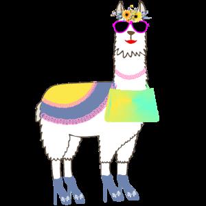 Lama Alpaka Geschenk für Frauen und Mädchen