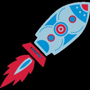 Retro Rakete, Science Fiction, Space, Weltraum