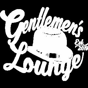 Weißer Hut gentlemens lounge