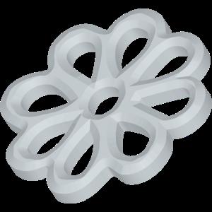 3D Metallteil Blume Felge extrudiert