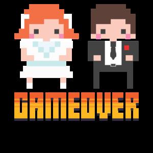 Game Over - Nerd Geeky JGA Gruppenshirt