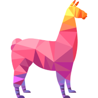Llama Low Poly Cool Geometric Design