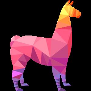 Llama Low Poly Cool Geometric Design
