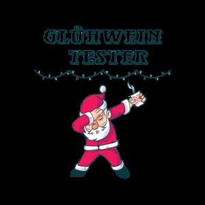 Gluehwein Tester Weihnachtsmarkt Santa Humor funn