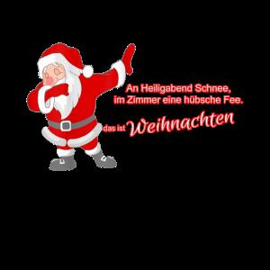 Frohe Weihnachten lustiger Nikolaus Schnee fuer