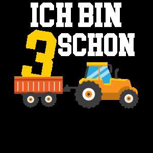 Kindergeburtstag Traktor Drei