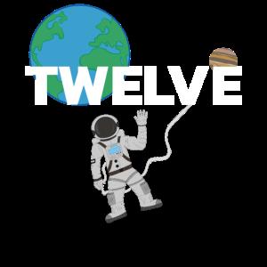 12 Zwölf Twelve Astronaut Geburtstag Bday Birthday