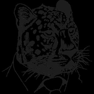 Leopard im Anzug